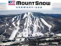 Mount Snow in West Dover, Vermont. 80 trails and 588 acres of skiing/snowboarding terrain.  They also just opened a rider-friendly 3 mile bike trail.