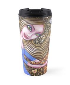 Cat lovers travel mug - $29.53 --- Playing with my Heart by Cherie Roe Dirksen #RedBubble #travelmug