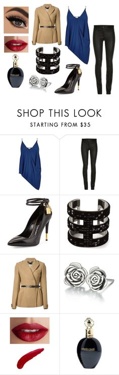 """How to Use Leather Pants Outfit #2"" by stt-g on Polyvore featuring moda, River Island, Tom Ford, Atelier Swarovski, Burberry, Chamilia, TheBalm y Roberto Cavalli"