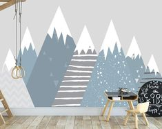 Montagne montagnes air chaud ballons wall decal garçons bébé | Etsy Tree Mountain Wallpaper, Mountain Mural, Nursery Wall Stickers, Wall Decal Sticker, Art Mural Photo, Kids Wall Murals, Decoration, Wall Decor, Ballons