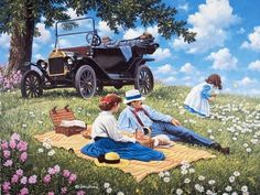 John Sloane is an American painter who is working in a realistic manner. His works manifest the admiration of the nature in all four seasons and enjoyment of the country life. Country Art, Country Life, Life Paint, Farm Art, Landscape Art, Art Blog, Painting Inspiration, Les Oeuvres, Vintage Art