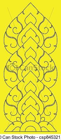 Thai pattern graphic - csp8453215