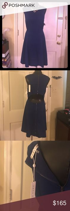 Trina Turk Cut Out Dress Lovely cobalt blue dress by Trina Turk with cut out in the back. Bottom and top are lined inside. New with tags Trina Turk Dresses Midi