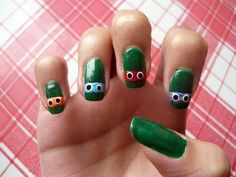 Teenage mutant ninja turtles nails #NailArt #nails