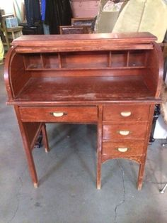 Child's roll top desk in Portland, OR (sells for $75)