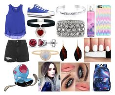 """""""#072 Tentacool Theme"""" by kitty-styles-horan-biedka ❤ liked on Polyvore featuring beauty, Rebecca Taylor, Topshop, Converse, BERRICLE, Mark Broumand, Disney and Casetify"""