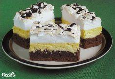 Kanalas habos-túrós sütemény   Nosalty Cake Bars, Nutella, Oreo, Cheesecake, Dessert Recipes, Food And Drink, Sweets, Cookies, Google
