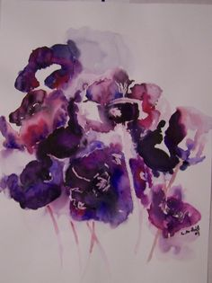 watercolor flowers | Kunstnet / Werke / Malerei / Stillleben / Anemonen