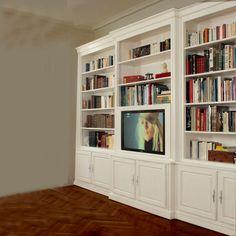 Bibliothèques sur mesure Tous nos ouvrages de menuiserie sont réalisés avec précision. Ils sont complétés de portes pleines, grillagées, vitrées, de corniches et moulures ainsi que d'étagères permettant d'apporter une profondeur à votre pièce. Contactez nous pour obtenir un devis.