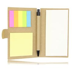 Promotional Eco Notepad With Sticky Note And Pen New Zealand For more connect http://indent.seeit.co.nz/notepad-with-sticky-note-p-1675.html