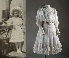 "Grand Duchess Olga Nikolaevna Romanova of Russia with the actual dress. ""AL"""