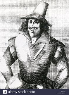 GUY FAWKES - English conspirator (1570-1606)  member of the Gunpowder Plot to blow up Parliament - Stock Image