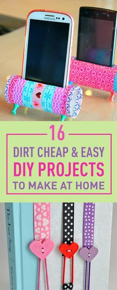 Printable 16 Dirt Cheap Easy Diy Projects To Make At Home . printable 16 Dirt Cheap Easy Diy Projects To Make At Home easy diys to do at home - Easy Diy Crafts Diy Craft Projects, Kids Crafts, Diy Home Crafts, New Crafts, Kids Diy, Craft Ideas, Decor Crafts, Project Ideas, Decor Ideas