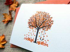 Fall Tree Letterpress notecard by Paper Lovely.