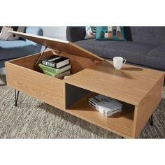 TABLE BASSE LEONTINE table basse style vintage décor chêne - L
