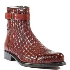 Belvedere Shoes Mens Libero Antique Wine Boots (BV2001)