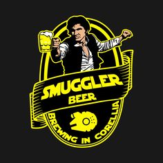 Check out this awesome #Star #Wars Smuggler beer #Shirt @ https://www.teepublic.com/t-shirt/112828-smuggler-beer?aff_store_referral_id=756