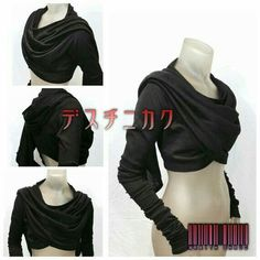 Wraith Shrug by CrisiswearClothing on Etsy- Zinnias winter shirt/ sweater? Wraith Shrug by CrisiswearClothing on Etsy- Zinnias winter shirt/ sweater? Mode Outfits, Fashion Outfits, Womens Fashion, Stylish Outfits, Kleidung Design, Moda Pop, Apocalyptic Fashion, Character Outfits, Mode Inspiration