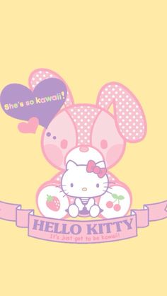 Hello Kitty wallpaper #easter #sanrio #bunny