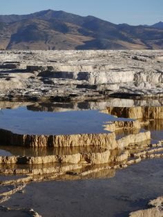 mammoth hot springs   a spoonful of sugar