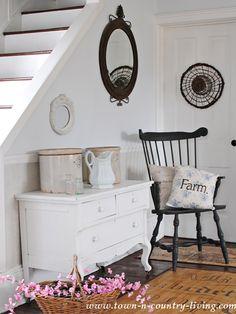 Shabby white dresser flea market finds