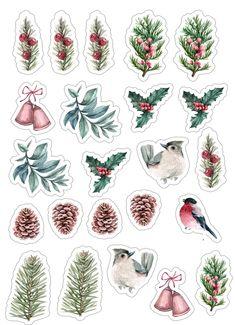 Scrap Home Schoоl Scrapbook Letters, Printable Scrapbook Paper, Scrapbook Journal, Scrapbook Stickers, Printable Stickers, Illustration Noel, Christmas Illustration, Clear Stickers, Cute Stickers