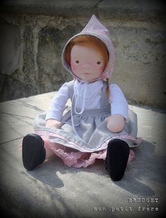 Bridget- Handmade natural fiber doll by Mon Petit Frère