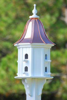Fancy Home Products Birdhouse Bright Copper Bell Roof
