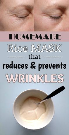 Homemade rice mask that reduces and prevents wrinkles