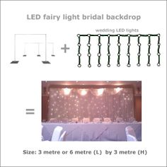 decorative buffet backdrops | Fairy light bridal table backdrop system