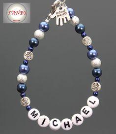 Mama - Armband mit Kindernamen Nr. 7 von TANBI-mommies auf DaWanda.com