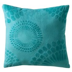 Cute Coral Tropical Hibiscus Flower On Turquoise Throw