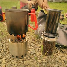 #coffeeoutside Sunday morning at the #trinityriver #levees followed by a great bit of #ridinggravel. #solostove #aeropress #outsideisfree #latergram http://ift.tt/1Vbg53z