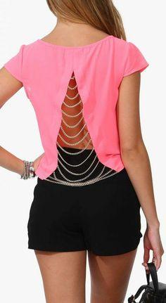 Chained Dutchess Top ♥ Hermoso!! para reciclar otra remera!!!