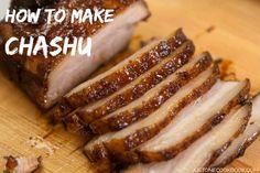 How to Make Chashu (Recipe) チャーシュー・煮豚の作り方(レシピ) - Easy Ethnic Recipes Pork Belly Recipes, Ramen Recipes, Meat Recipes, Asian Recipes, Cooking Recipes, Hawaiian Recipes, Easy Japanese Recipes, Japanese Dishes, Japanese Ramen