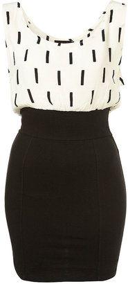 ShopStyle: Line Print Jean Dress by Motel**