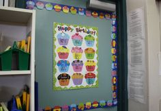 Birthday celebrations in the classroom. Dots on Chocolate Happy Birthday Chart and Cupcakes Border from Creative Teaching Press