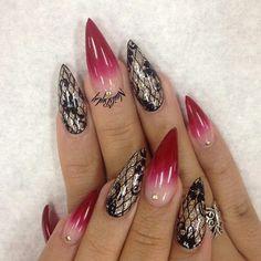 ногти вуаль колготки миндалевидные nail design lace