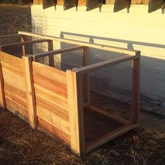 The Best Triple Compost Bin : 5 Steps (with Pictures) - Instructables Build Compost Bin, Homemade Compost Bin, Wooden Compost Bin, Garden Compost, Kitchen Waste, Garbage Can, Wooden Slats, Baseboards, Garden Projects