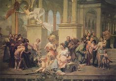 Vojtěch Hynais - The curtain of National Theatre in Prague (1883)  #painting #art #Czechia