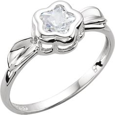 Sterling Silver BFlower™ CZ Star Rings - Various Colors