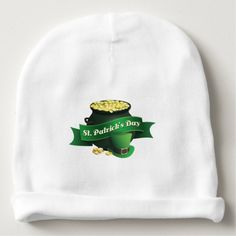 Cute Pot of Gold St Patrick's Day Baby Beanie