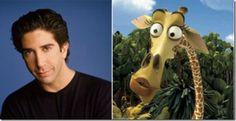 """David Schwimmer – Melman (""""Madagascar"""") David Schwimmer, Friends Tv Show, Cartoon Movies, Voice Actor, Cool Cartoons, Madagascar, Movie Stars, The Voice, Animation"""