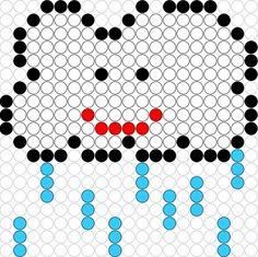 Rain hama perler beads pattern