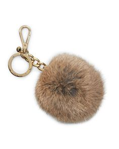 Tribble keychain or Rabbit fur Charm by MICHAEL Michael Kors at Neiman Marcus.