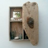 drift wood cabinet