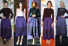 Daisy Lowe, Verónica Echegui, Nieves Álvarez, Lea Seydoux y Jaime King, con la misma falda de Dior (otoño-invierno 2012-2013) #HOLAFashion #celebritystyle