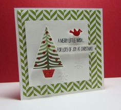 Tree  Christmas card stampin up