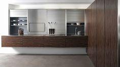 Contemporary wood veneer / stainless steel kitchen eggersmann küchen GmbH & Co. KG