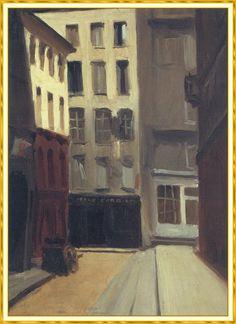 Edward Hopper — Paris Street, Edward Hopper